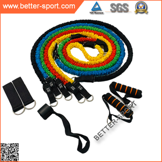 11PCS extra strong elastic Resistance Band set